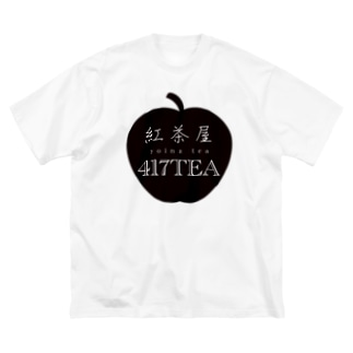 紅茶屋 417TEA_BLACK Big silhouette T-shirts