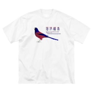 ルリカケス Big silhouette T-shirts