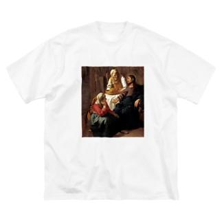 マリアとマルタの家のキリスト / フェルメール(Christ in the House of Martha and Mary 1654) Big silhouette T-shirts