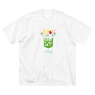 クリームソーダ Big silhouette T-shirts