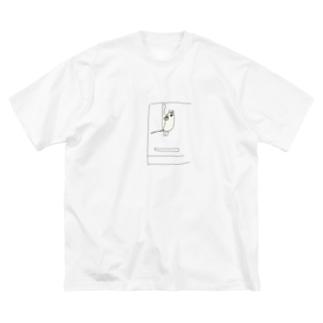 寝るでつ Big silhouette T-shirts