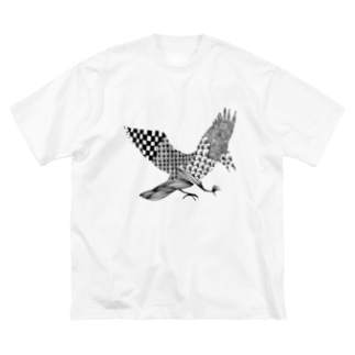 烏 Big silhouette T-shirts