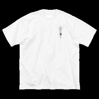 Meow__35のさよなら三角 Big silhouette T-shirts
