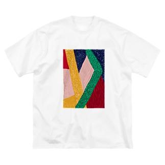 RETRO COLOR Big silhouette T-shirts