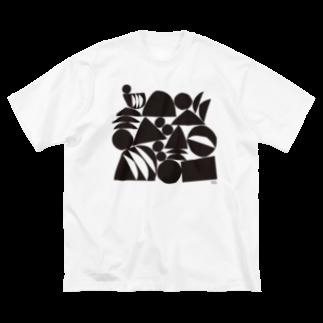 〈サチコヤマサキ〉ショップのフルーツのなる場所1 Big silhouette T-shirts