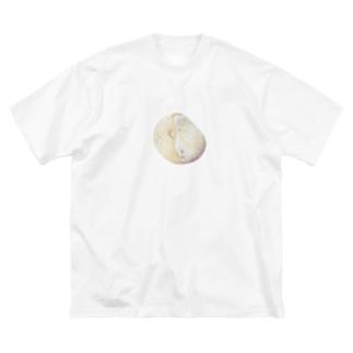 ミントチョコみたいな石 Big silhouette T-shirts