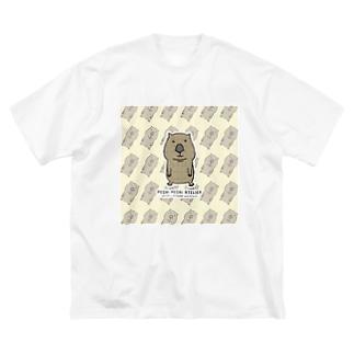 うぉんばっとがいっぱい Big silhouette T-shirts