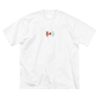 おっくんとしーちゃん Big silhouette T-shirts