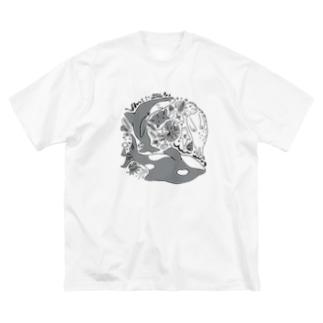 海の生きもの Big silhouette T-shirts