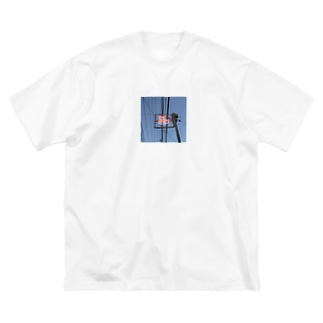東京銭湯路線図 Big silhouette T-shirts