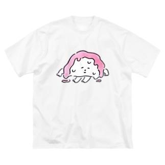 とけてるかまぼこ Big silhouette T-shirts