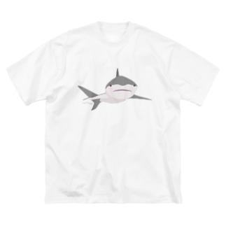 ほわっとサメ / ばーんと大きくレイアウト版 Big silhouette T-shirts