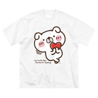 いぬ田さん・はーと♥ Big silhouette T-shirts