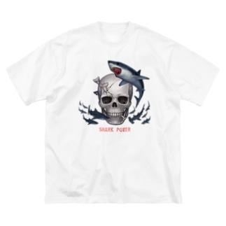 シャークパワー Big silhouette T-shirts