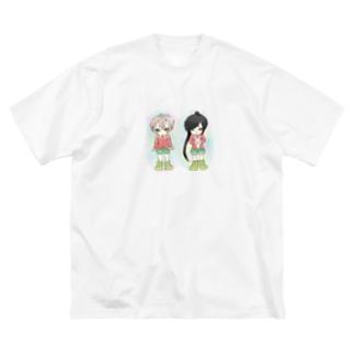 刀剣乱舞 蛍丸 太郎太刀 Big silhouette T-shirts