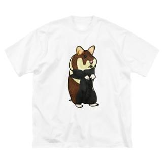 クロハラハムスター Big silhouette T-shirts
