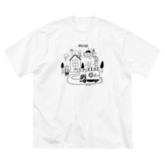 どうぶつーズ引っ越しセンタ Big silhouette T-shirts