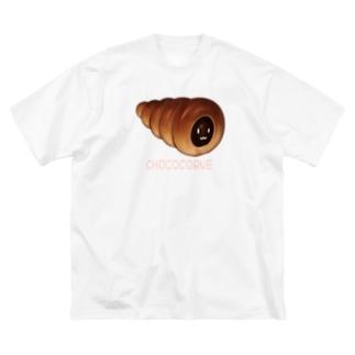 チョココロネ顔つき Big silhouette T-shirts