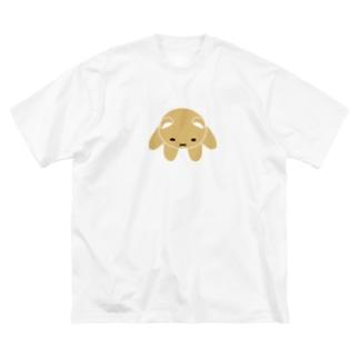 俯瞰くまちゃん Big silhouette T-shirts