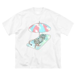 殿と海/わたしと猫の殿 Big silhouette T-shirts