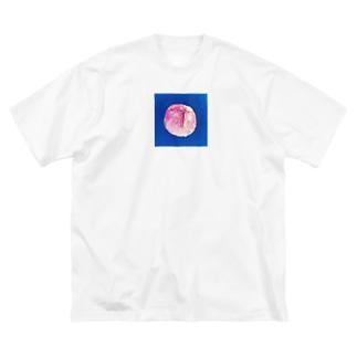 peach Big silhouette T-shirts