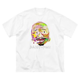 uwotomoの【colorful face】p-medium Big silhouette T-shirts