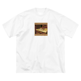 "- NNSS -の猫-NNSS-2019""fp""  Big silhouette T-shirts"