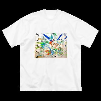 混沌コントロール屋さんのカラフル3 Big silhouette T-shirts