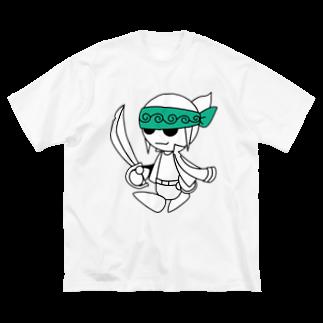 ウサネコのナイツ・サーベル Big silhouette T-shirts