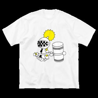 ウサネコのナイツ・ハンマー Big silhouette T-shirts