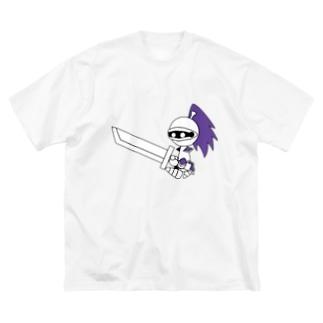 ナイツ・クレイモア Big silhouette T-shirts