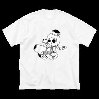ウサネコのナイツ・キャノン Big silhouette T-shirts