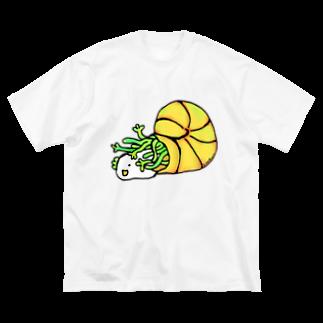 Cɐkeccooのよいものです-かいひよもどき Big silhouette T-shirts