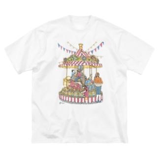 メリーゴーランド(透過) Big silhouette T-shirts
