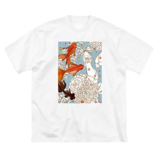 金魚 Big silhouette T-shirts