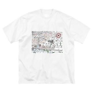 靴屋の番犬 Big silhouette T-shirts