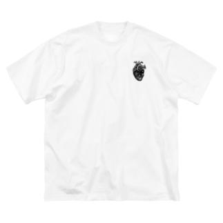 深臓 Big silhouette T-shirts
