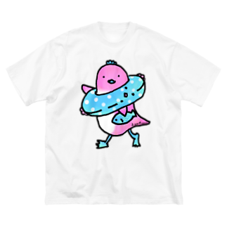 Cɐkeccooのよいものです-うきうきとり Big silhouette T-shirts