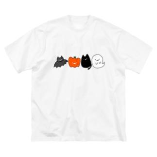ハロウィンの仲間たち Big silhouette T-shirts