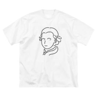 モーツァルト イラスト 偉人 音楽 Big silhouette T-shirts