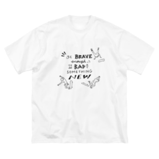 Be BRAVE Big silhouette T-shirts