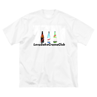 lovesakecremeclubのLSCCオリジナル Big silhouette T-shirts
