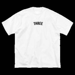 THREE TEA GO. 三茶散歩のTHREE Big silhouette T-shirts