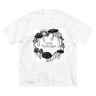 Love Mushroom Big silhouette T-shirts