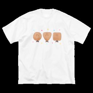 鈴のまるしかくさんかくフライ Big silhouette T-shirts