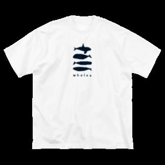 ななめやのwhalebone Big silhouette T-shirts