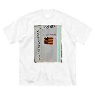 独立運動(白) Big silhouette T-shirts