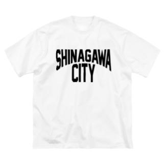 SHINAGAWA CITY(BK) Big silhouette T-shirts