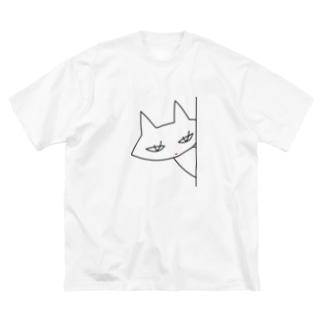 クミンねこ Big silhouette T-shirts