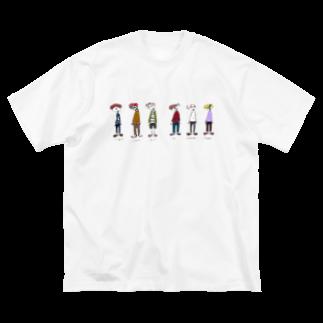穏やかな日常のsushi人間(カラー) Big silhouette T-shirts
